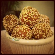 Spiced Orange Cacao Sesame Orbs