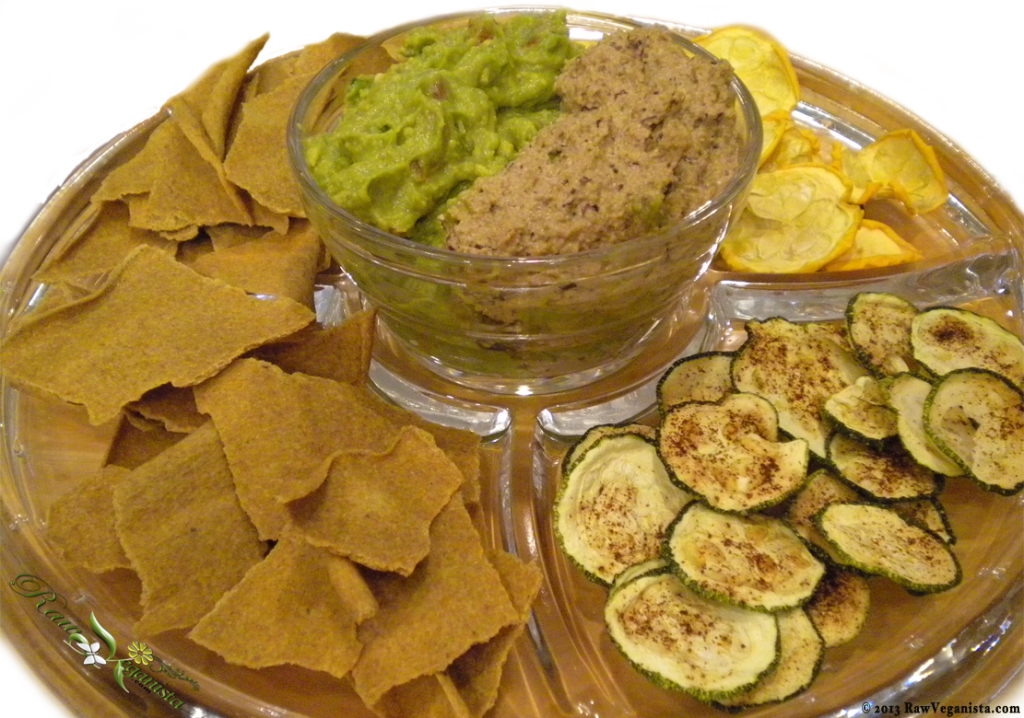 Raw/vegan Mexicali Chips & Dips