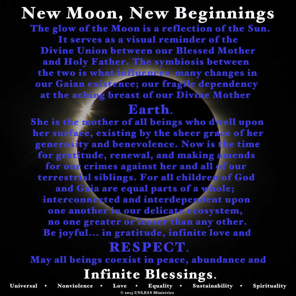 New Moon Blessings