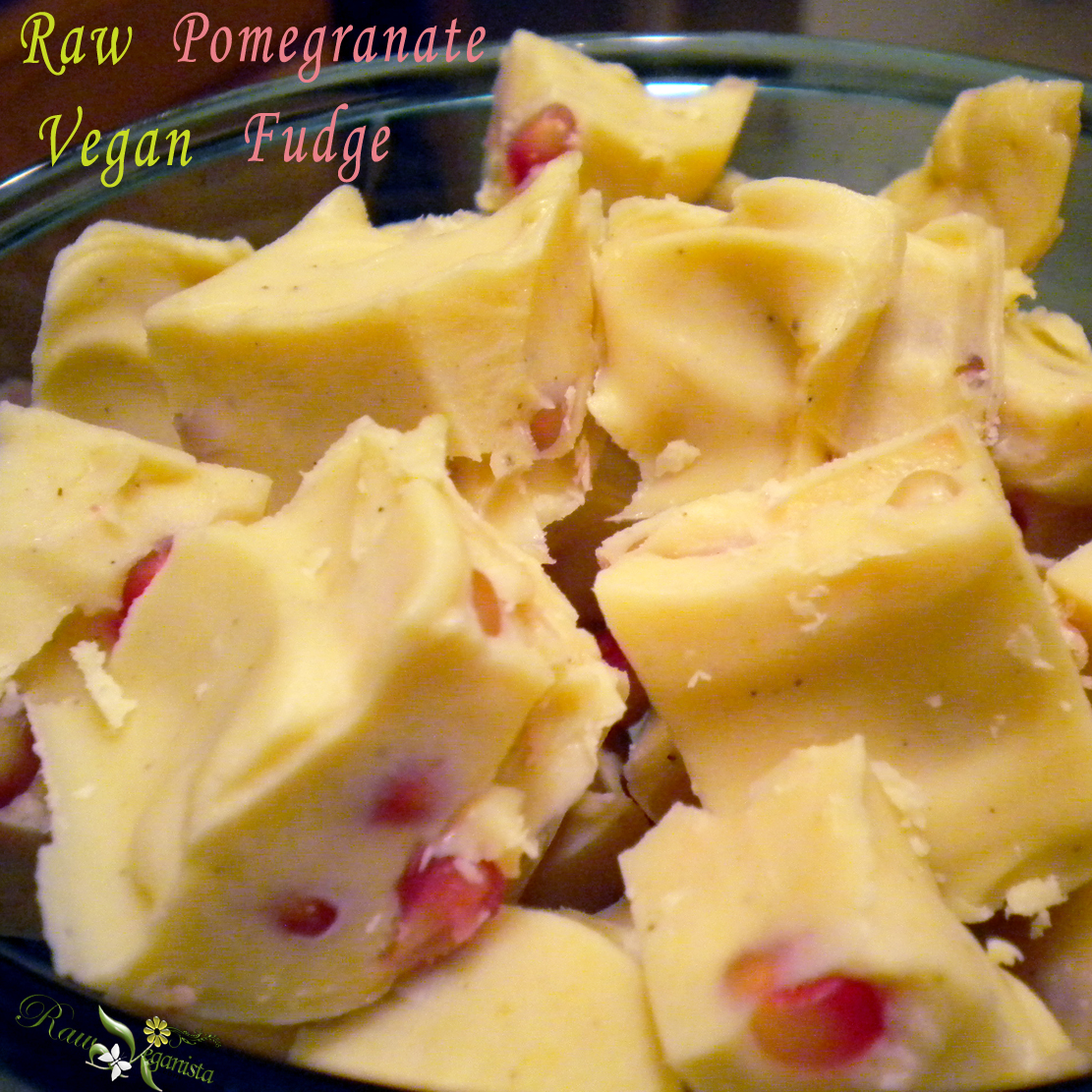 Pomegranate White Chocolate Fudge