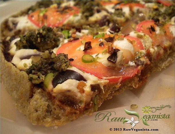 Gourmet Raw Vegan Pizza
