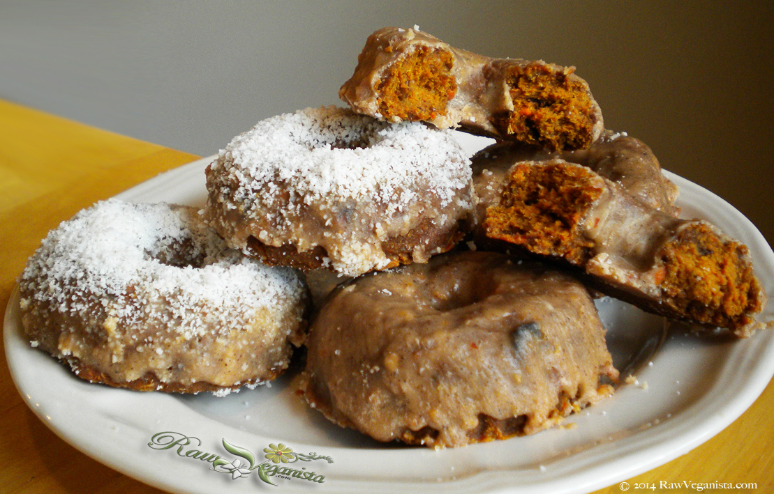 24th Veganniversary Treat: Raw Carrot Cake Donuts