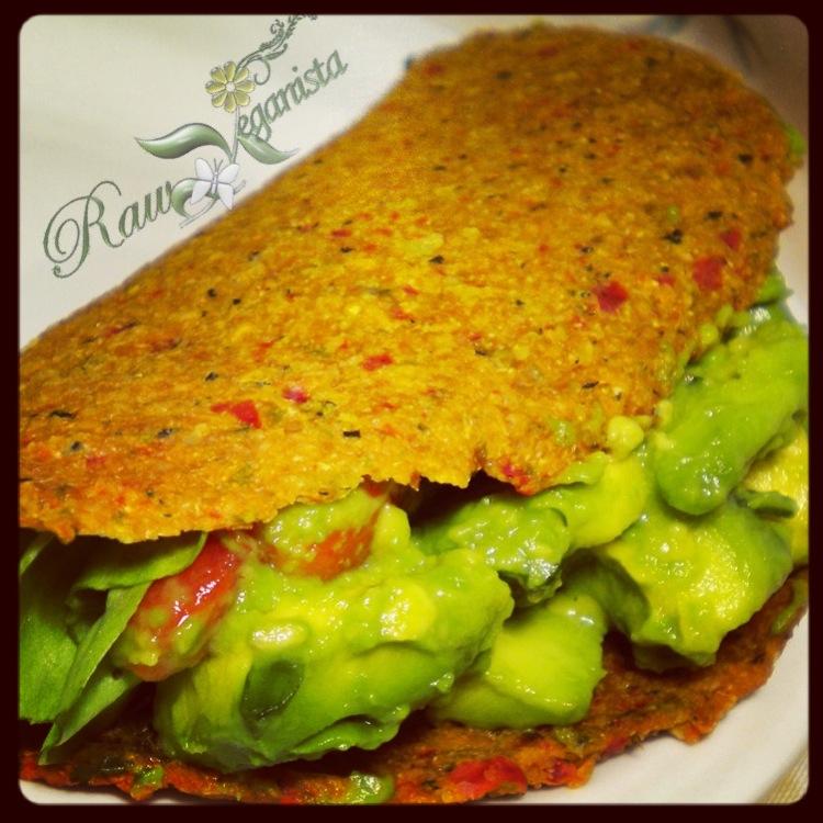 Low-fat Raw Vegan Hard Shell Tacos