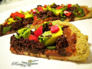 Raw Vegan Mexican Pizza