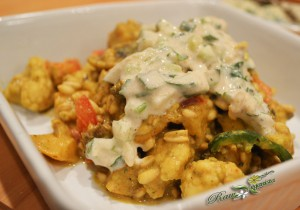 Raw Cauliflower Curry Bowl w/Vegan Raita