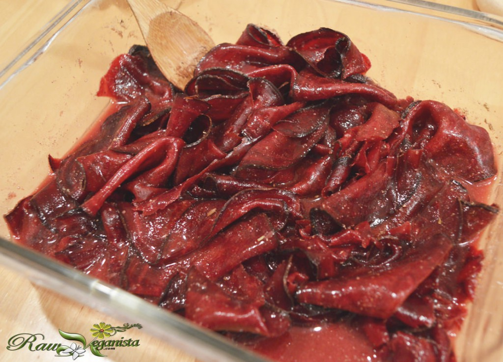 Raw vegan corned beetroot