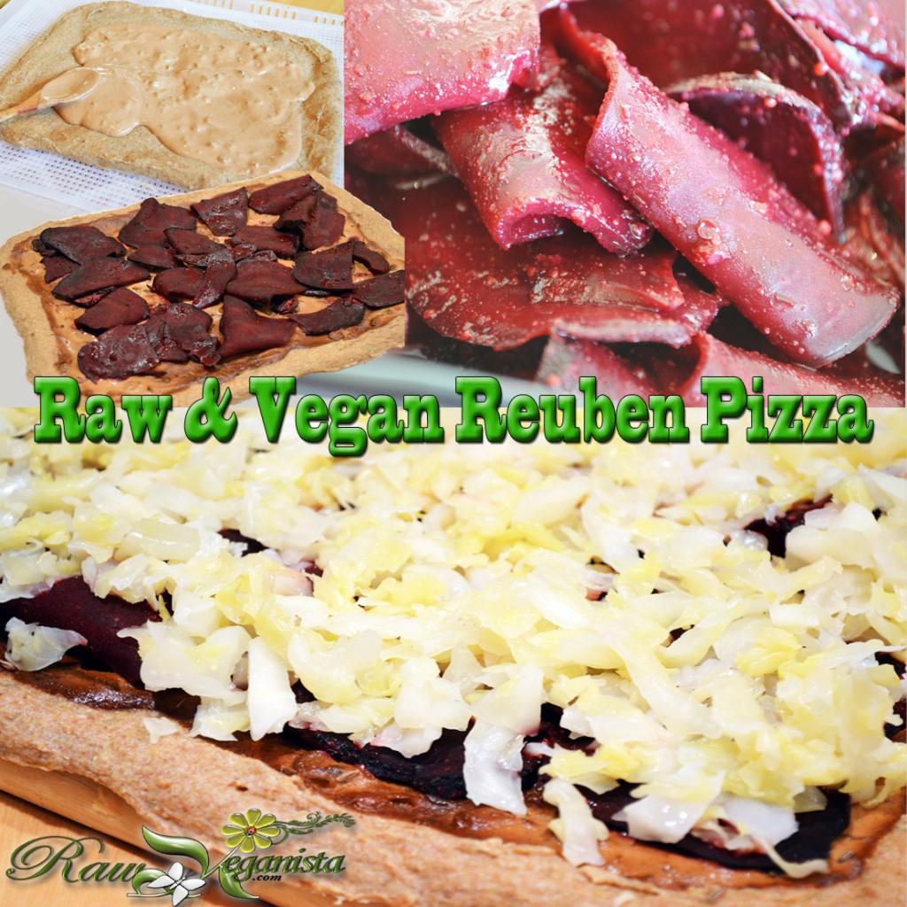 Raw, Vegan, & Gluten-free Reuben Pizza