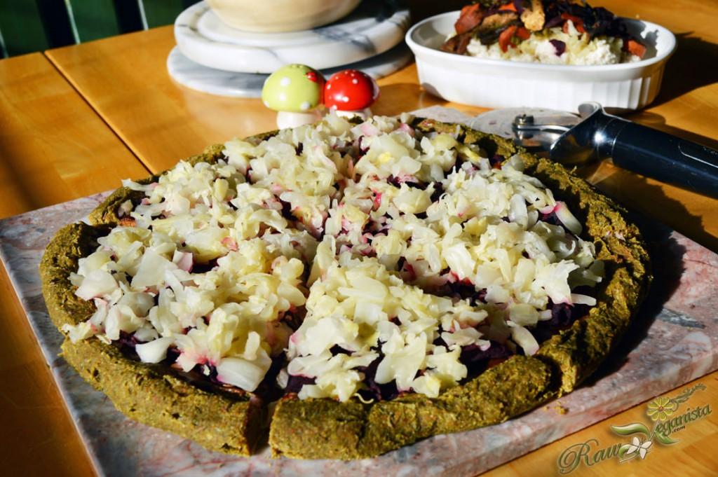 Raw Vegan Reuben Pizza