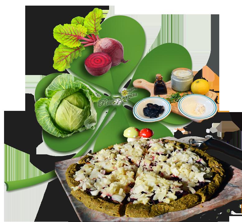 St. Patrick's Raw Vegan Reuben Pizza