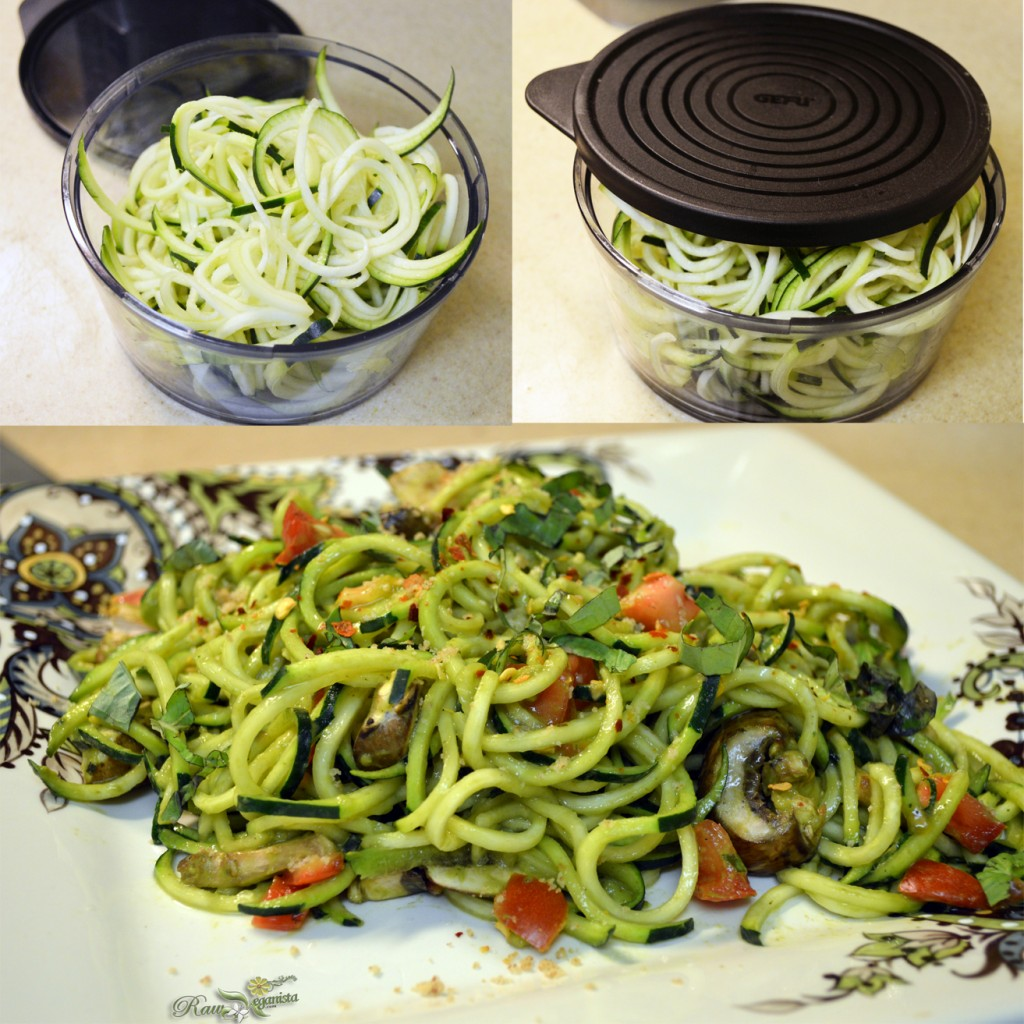 Courgetti w/Avocado Pesto